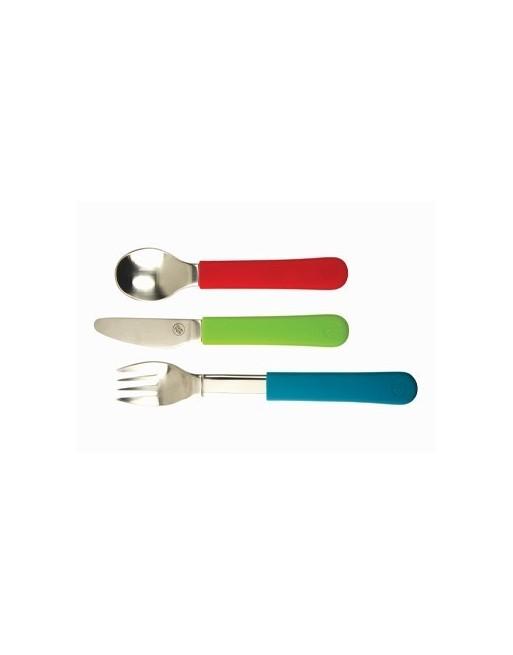Besteck-Set 3-teilig mit abnehmbaren Manschetten