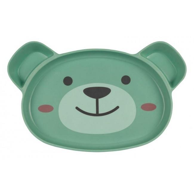 Rutschfester Esslernteller Bär
