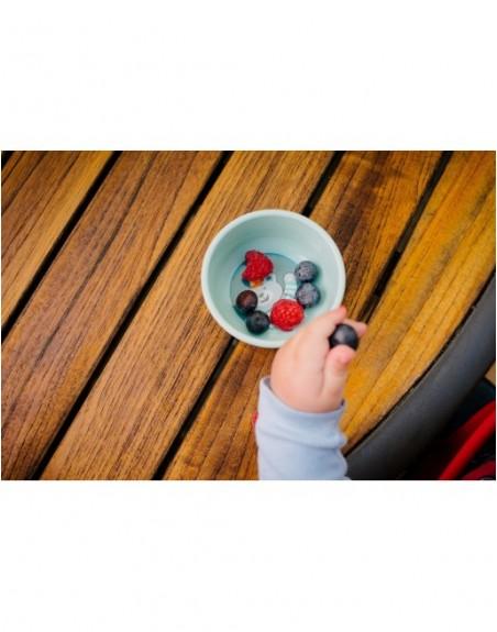 2-teiliges rutschfestes Esslern-Schalen-Set Bär mit Deckeln