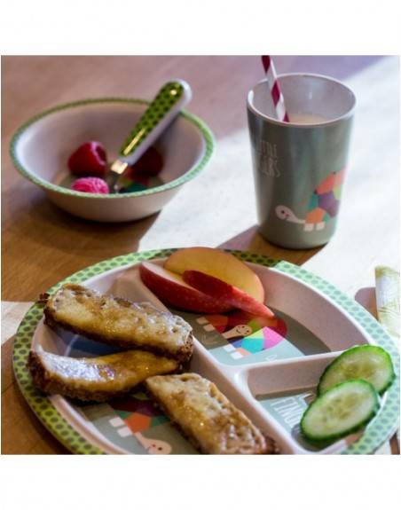 Praktischer Teller für die einzelnen Bestandteile der Mahlzeit